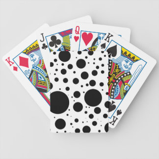 Hundreds of Black Dots and Circles in Varying Size Bicycle Playing Cards