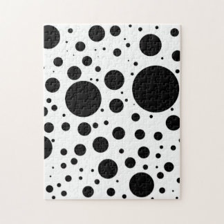 Hundreds of Black Dots and Circles in Varying Size Jigsaw Puzzle