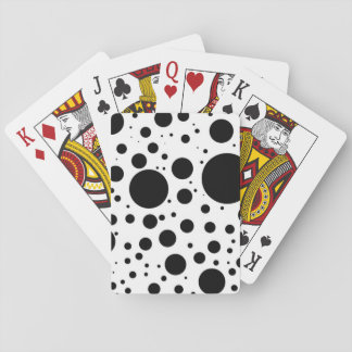 Hundreds of Black Dots and Circles in Varying Size Playing Cards