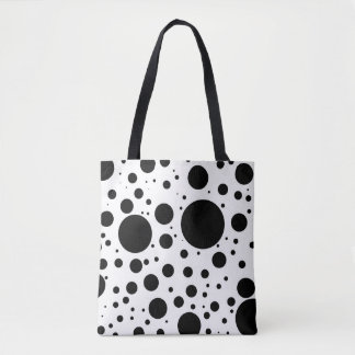 Hundreds of Black Dots and Circles in Varying Size Tote Bag
