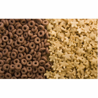 Hundreds Of Yellow Stars And Brown Rings Cereals Cut Out