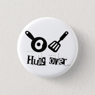 Hung Over - Frying Pan & Egg 3 Cm Round Badge
