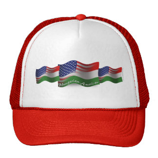 Hungarian-American Waving Flag Cap
