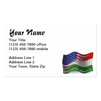 Hungarian-American Waving Flag Pack Of Standard Business Cards