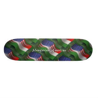 Hungarian-American Waving Flag Custom Skateboard