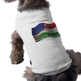 Hungarian-American Waving Flag Sleeveless Dog Shirt