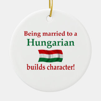 Hungarian Builds Character Ceramic Ornament
