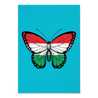 Hungarian Butterfly Flag Personalized Invites
