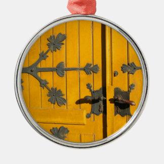 Hungarian Decorated Yellow Door - Ornament