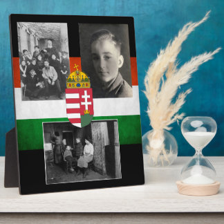Hungarian Family w/Three Photos Photo Plaques