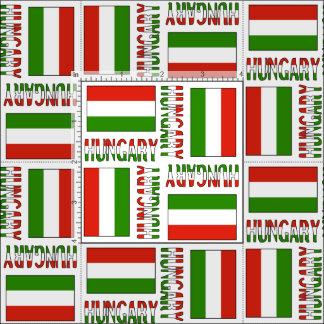 Hungarian Flag and Hungary Fabric
