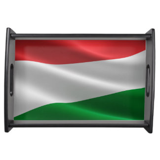 Hungarian Flag serving trays