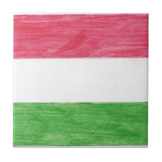 Hungarian Flag Small Square Tile