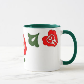Hungarian floral motifs -Red tulips Mug