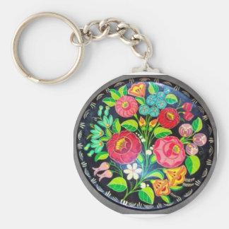 Hungarian Flowers Key Chains