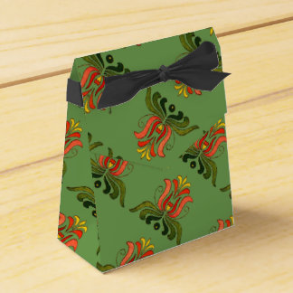Hungarian Folk Flower Favors Favour Box