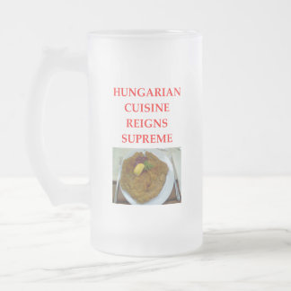 HUNGARIAN FROSTED GLASS BEER MUG