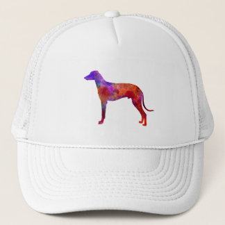 Hungarian Greyhound in watercolor Trucker Hat