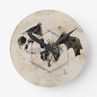 Hungarian Horntail Dragon Round Clock
