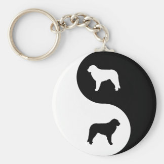 Hungarian Kuvasz Yin Yang Key Ring