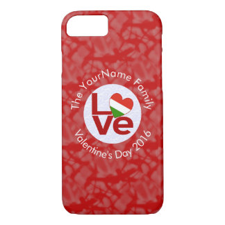Hungarian LOVE White on Red iPhone 7 Case