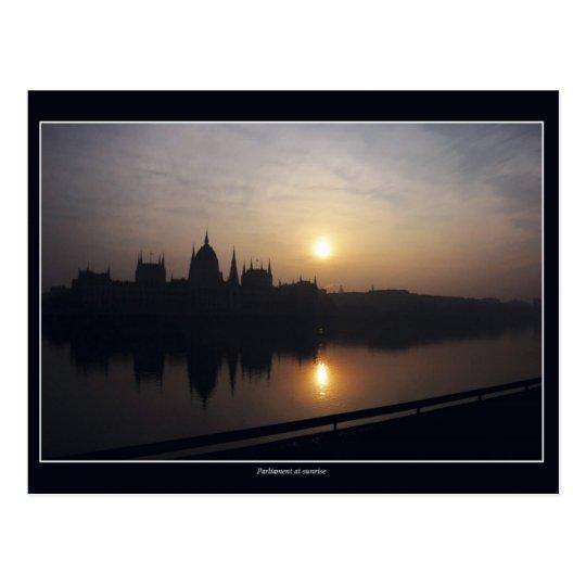 Hungarian Parliament at sunrise Postcard