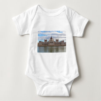 Hungarian Parliament Budapest by day Baby Bodysuit
