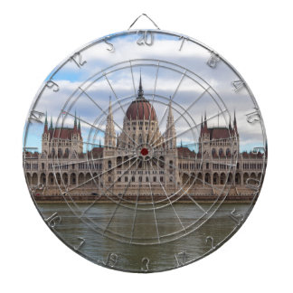 Hungarian Parliament Budapest by day Dartboard