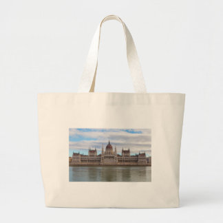 Hungarian Parliament Budapest by day Large Tote Bag