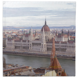 Hungarian Parliament Budapest by day Napkin