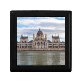 Hungarian Parliament Budapest by day Small Square Gift Box