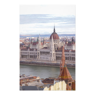 Hungarian Parliament Budapest by day Stationery