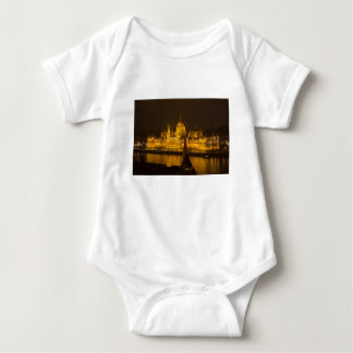 Hungarian Parliament Budapest by night Baby Bodysuit