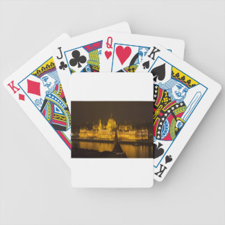 Hungarian Parliament Budapest by night Bicycle Playing Cards