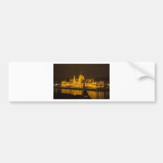 Hungarian Parliament Budapest by night Bumper Sticker