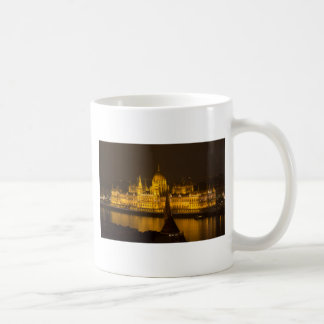 Hungarian Parliament Budapest by night Coffee Mug