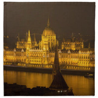 Hungarian Parliament Budapest by night Napkin