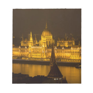 Hungarian Parliament Budapest by night Notepad