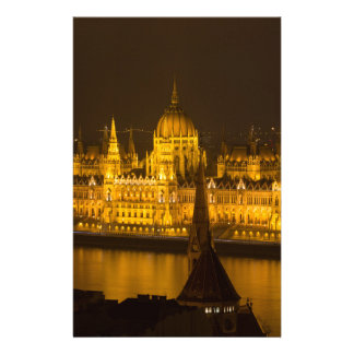 Hungarian Parliament Budapest by night Stationery