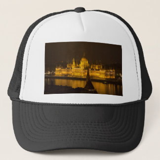 Hungarian Parliament Budapest by night Trucker Hat