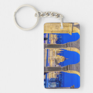 Hungarian Parliament Building at Dusk Acrylic Key Chain