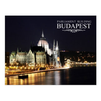 Hungarian Parliament Building, Budapest Postcard