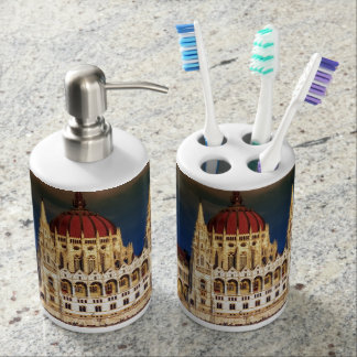 Hungarian Parliament Building in Budapest, Hungary Bath Accessory Sets