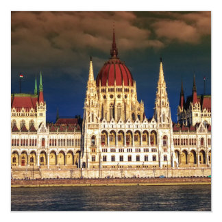 Hungarian Parliament Building in Budapest, Hungary Card