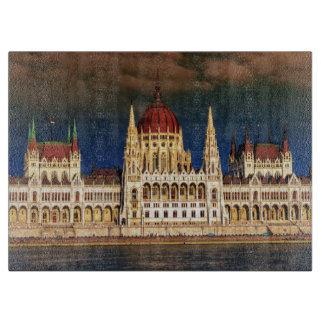 Hungarian Parliament Building in Budapest, Hungary Cutting Board