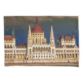 Hungarian Parliament Building in Budapest, Hungary Pillowcase