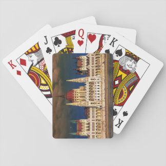 Hungarian Parliament Building in Budapest, Hungary Playing Cards