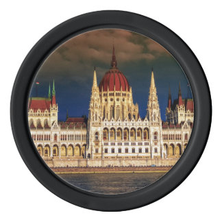 Hungarian Parliament Building in Budapest, Hungary Poker Chips