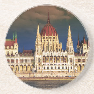 Hungarian Parliament Building in Budapest, Hungary Sandstone Coaster