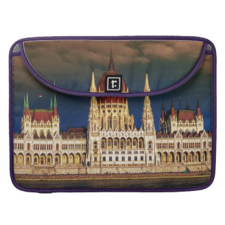 Hungarian Parliament Building in Budapest, Hungary Sleeves For MacBook Pro